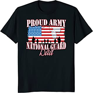 Proud Army National Guard Dad Dog Tag Flag Shirt Fathers Day