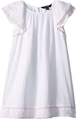 Cotton Flutter-Sleeve Dress (Little Kids)