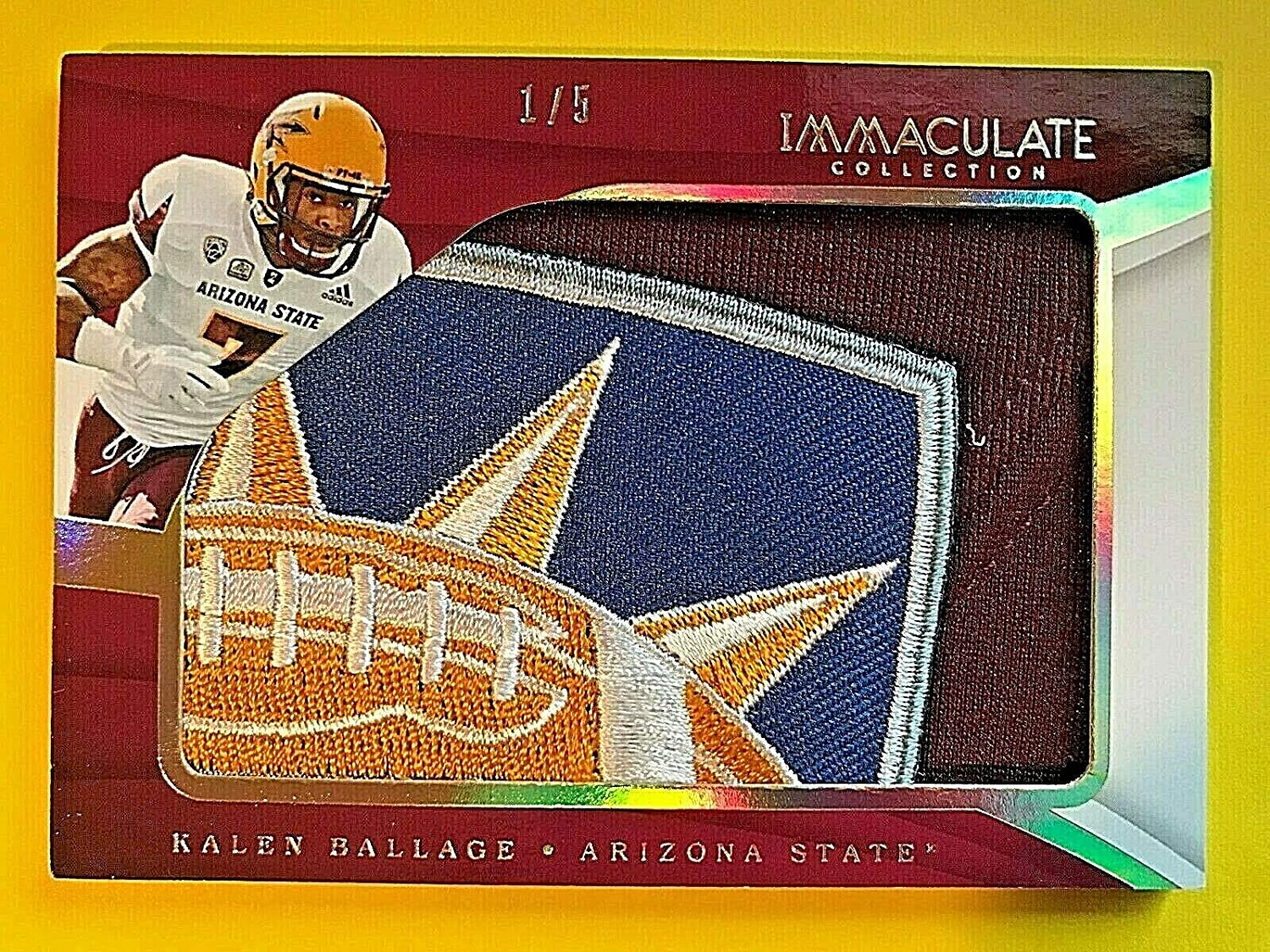 2018 Immaculate Collegiate #24 Kalen BOWL LOGO Jumbo Ballage Special price for a limited time Pat Cheap sale