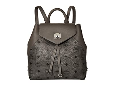 MCM Essential Visetos Original Backpack Small (Phantom Grey) Backpack Bags
