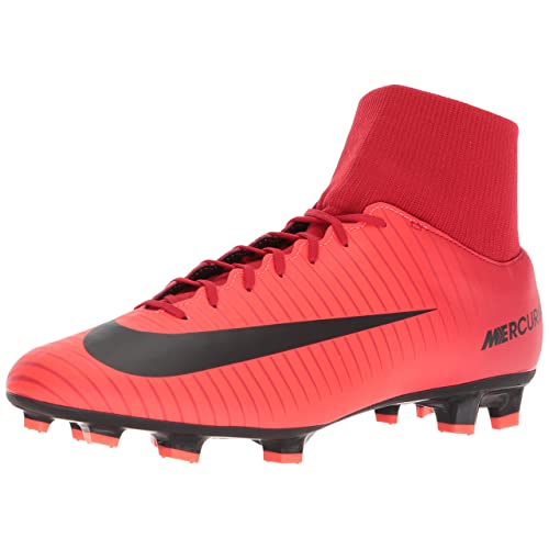 33e3d340765cf Nike Mercurial Victory VI DF FG Men Soccer Cleats-Red Size: 9.5