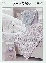 James C. Brett Knitting Pattern Children's Woollen Blankets in Flutterby Chunky Yarn (JB197)