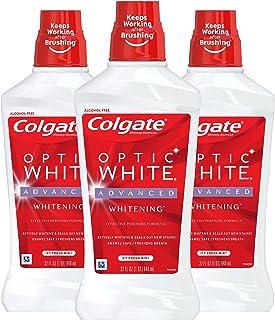کلگیت اپتیک سفید سفید کننده دهانشویه، نعناع تازه - 946 میلی لیتر، 32 اونس مایع (3 بسته)