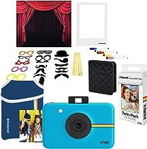 Polaroid Snap Instant Digital Camera (Blue) Photo Booth Bundle