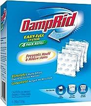 Damp Rid Moisture Absorber Refill 4 Pack, Fragrance Free, 1.19 kilograms