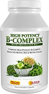 Andrew Lessman High Potency B-Complex 180 Capsules - with High Levels of Folate Complex & Biotin, Promotes Cellular Growth...