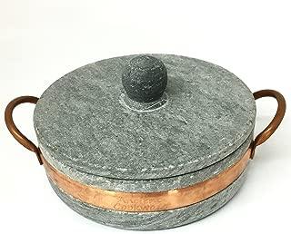 Ancient Cookware Brazilian Soap Stone Low Pot, Panela de Pedra