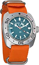 Vostok Amphibian Scuba Dude Automatic Mens WristWatch Self-winding Military Diver Amphibia Ministry Case Wrist Watch #710059 (orange)