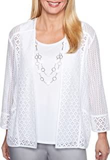 Women's Charleston Lace Two for One Woven Top