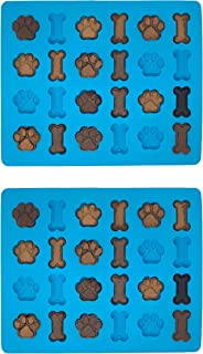 Win&Co Puppy Paws and Bones Bite Size Edition Silicone Molds Dog Snacks Home Made Treats