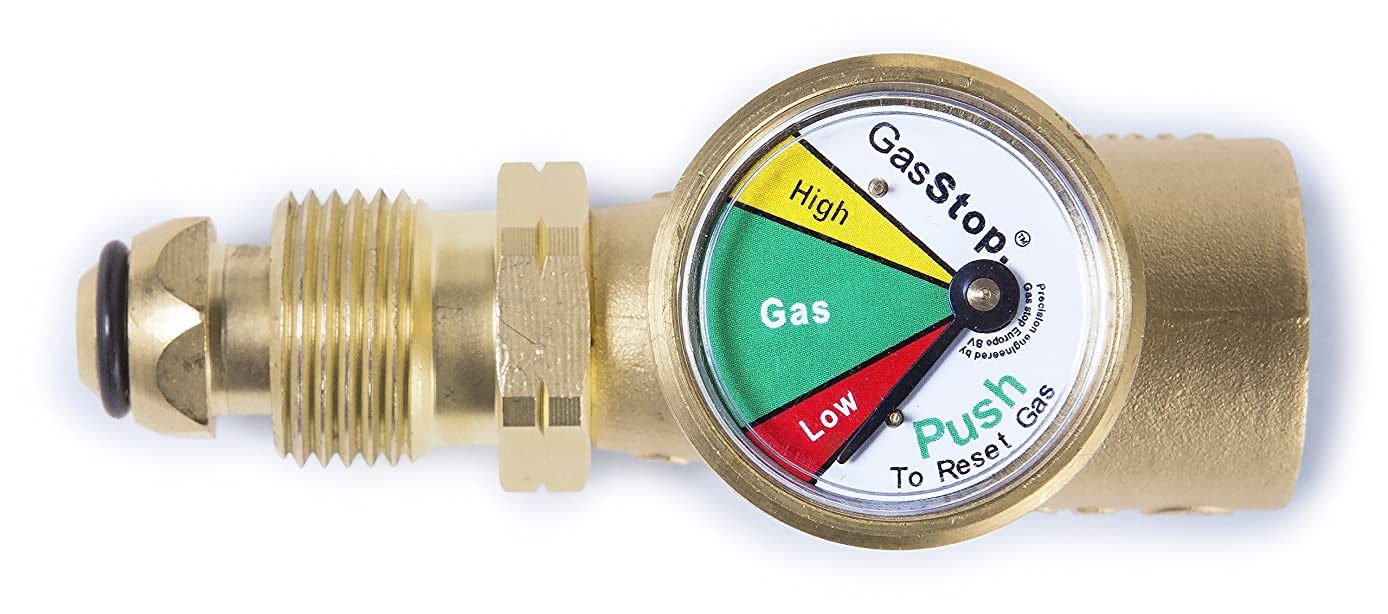 GasStop Propane 100% Emergency Shut-Off Safety Device- for RV POL type connections