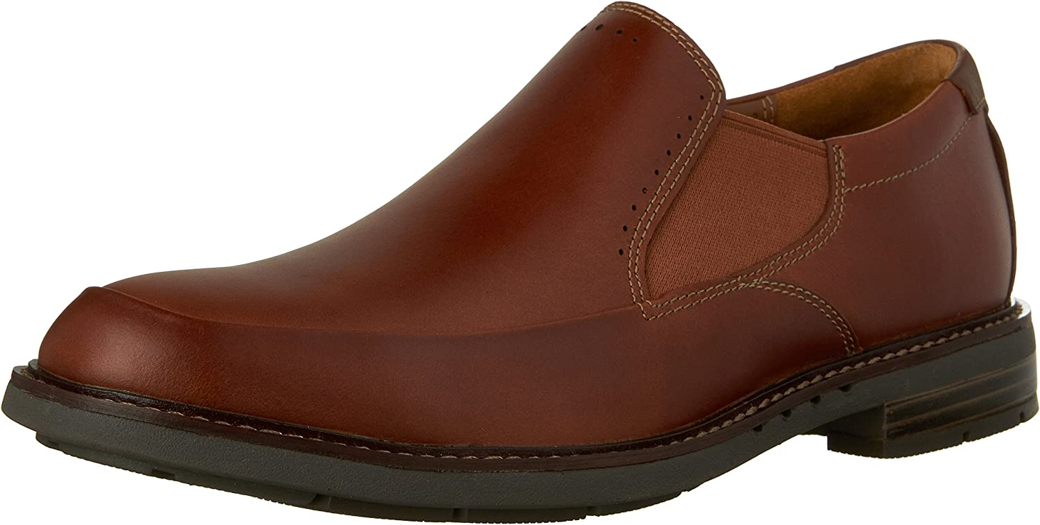 Clarks - Mnner Unelott Step Schuh, 46 EUR, Tan Leather