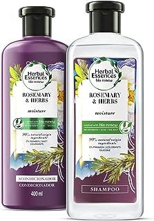 Herbal Essences Bíorenew Shampoo + Acondicionador Rosemary & Herbs de 400 ml c/u