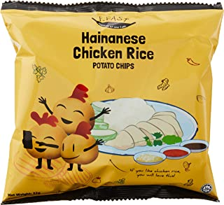 F.EAST Potato Chips Carton, Hainanese Chicken Rice, 22g, (Pack of 30)