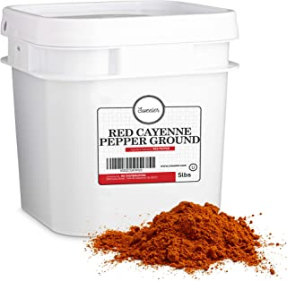 Sweeler, Red Ground Cayenne Pepper - 40,000 Heat Units, Value Large Bucket Size for Food Service or Home Use, 5lbs