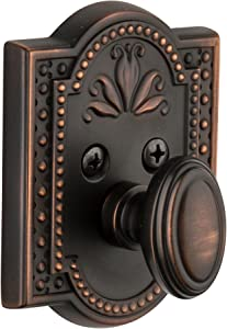 Grandeur Parthenon Single Cylinder Deadbolt, Timeless Bronze