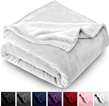 Bare Home Microplush Velvet Fleece Blanket - Twin/Twin Extra Long - Ultra-Soft - Luxurious Fuzzy Fleece Fur - Cozy Lightweight - Easy Care - All Season Premium Bed Blanket (Twin/Twin XL, White)