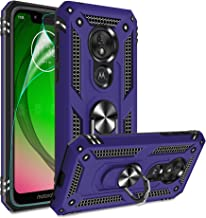 Moto G7 Play Case, Moto G7 Play Phone Case with HD Screen Protector, Gritup 360 Degree Rotating...