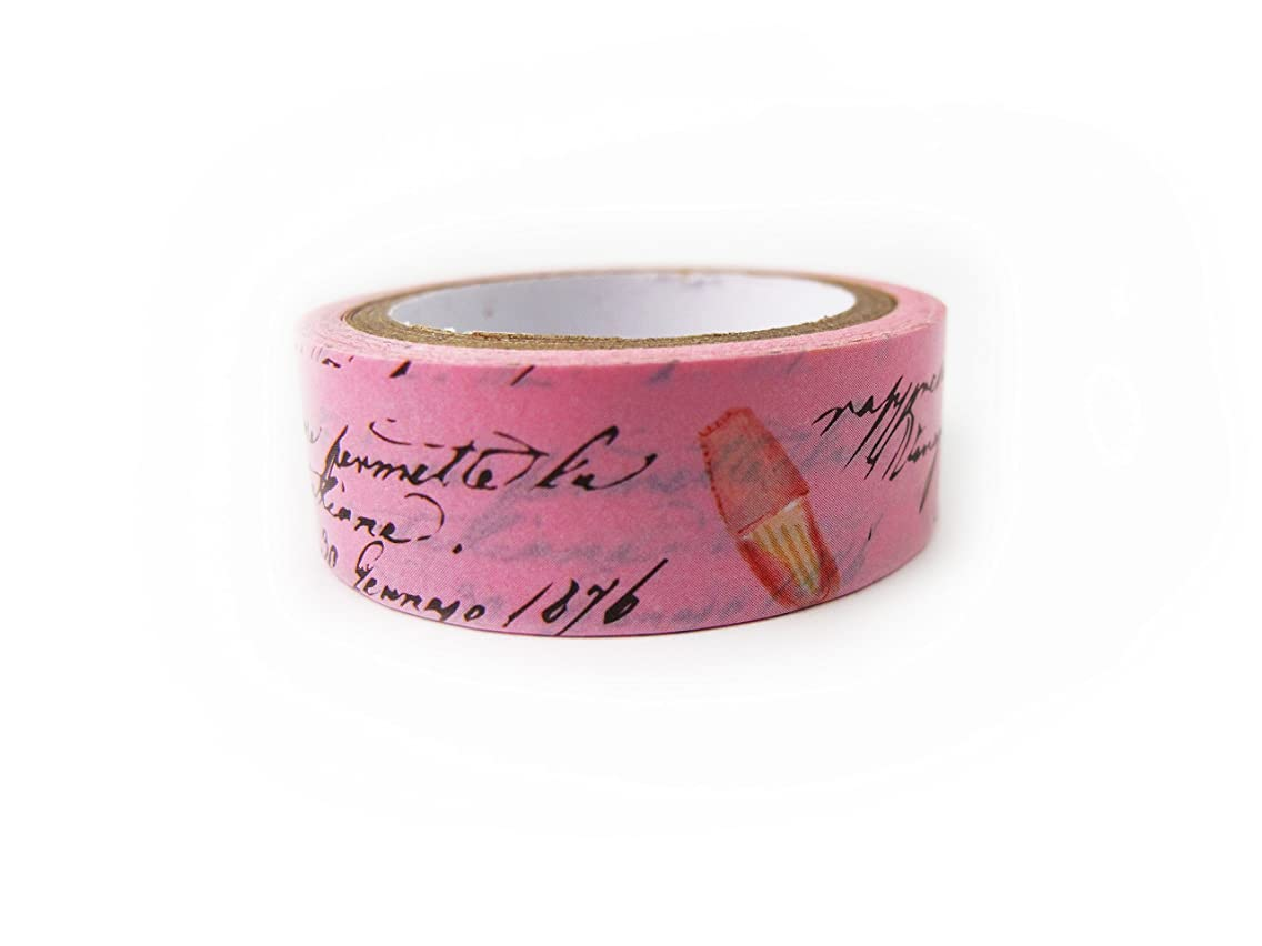 Washi Paper Tape Masking Tape Decorative Tape Planner Accessory (Pink Scent)