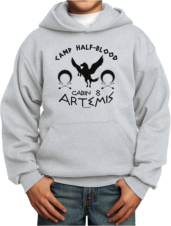 TOOLOUD Camp Half Blood Cabin 8 Artemis Youth Hoodie Pullover Sweatshirt
