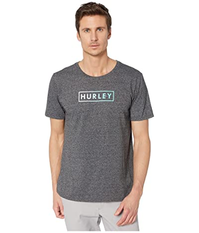 Hurley Boxed Gradient Short Sleeve Tee (Black Heather) Men