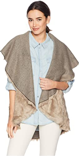 Floral Fur Reversible Vest