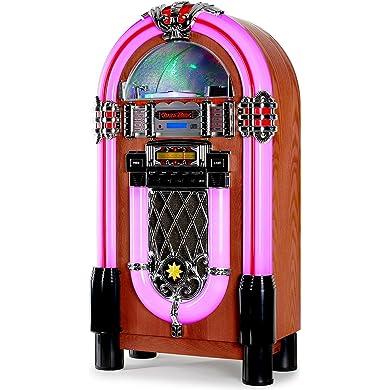 Ricatech Table Top - Gramola (reproductor de CD, Radio, MP3