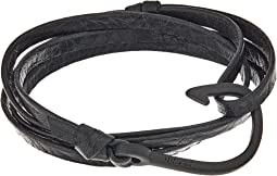 Noir Hook on Leather Bracelet