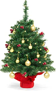 8faa2e6e33b Best Choice Products 22in Pre-Lit Battery Operated Tabletop Mini Artificial  Christmas Tree Decor w