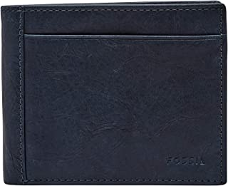 Fossil Men's Wallet, 4.50''L x 0.75''W x 3.56''H, Navy Blue