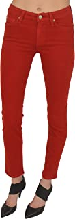 7 For All Mankind Slim Cigarette, Flame Red, 24