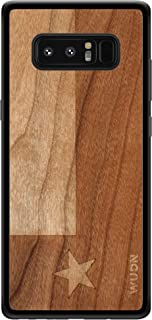 Wooden Phone Case (Texas State Flag in American Cherry) Compatible with Galaxy Note 8, Samsung Galaxy Note 8