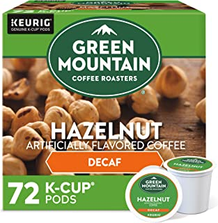 Green Mountain Coffee Roasters Hazelnut, Single Serve Coffee K-Cup Pod, Decaf, 12 Count (Pack of 6) (Packaging May Vary), ...
