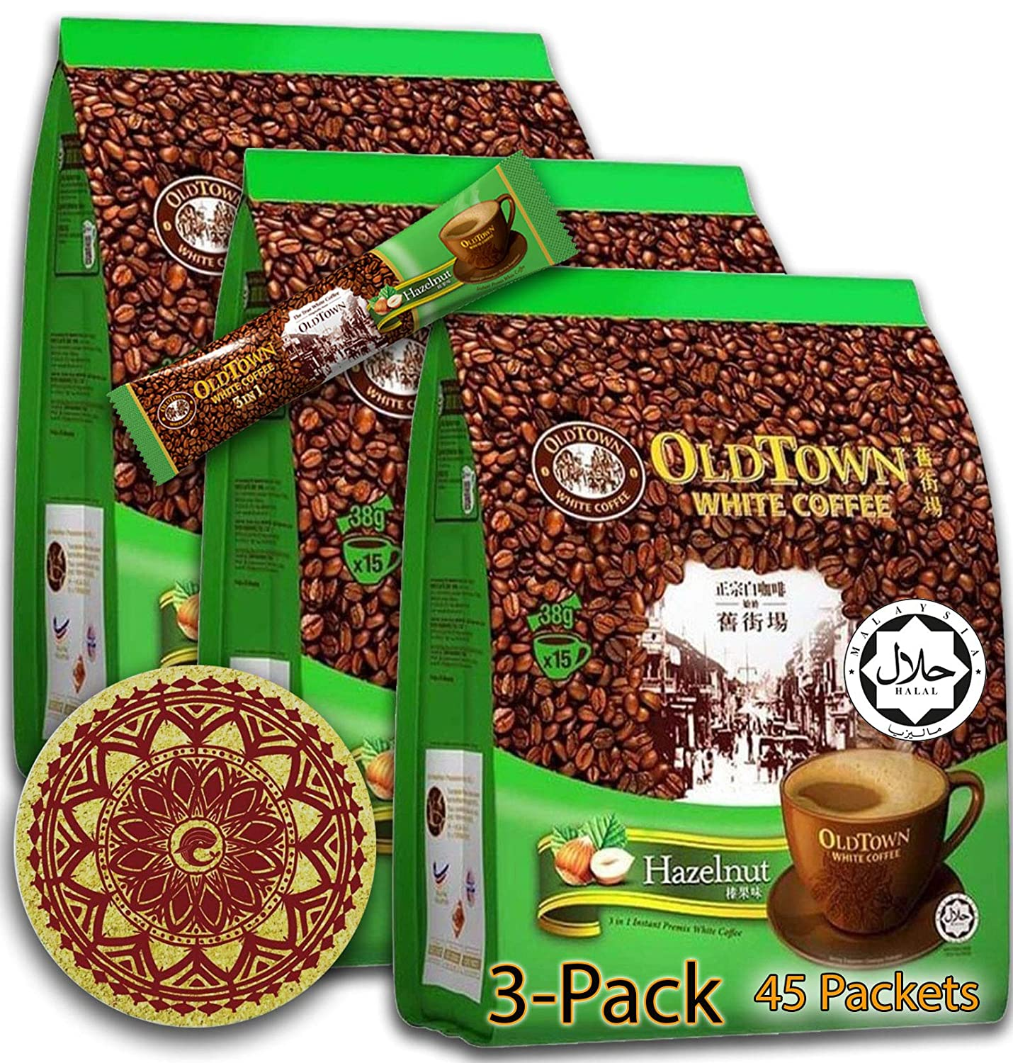 3 Pack - Hazelnut Detroit Mall OLD TOWN in Instant Ranking TOP17 Coffee 1 Asian Coffe