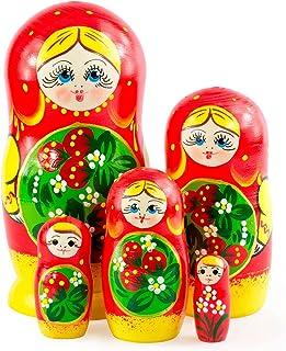 Azhna 5 stuks 15 cm seizoenszomer souvenir matroschka nesting pop home decor collectie klassieke stijl handgeschilderde Ru...