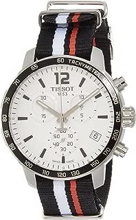 Tissot Silver Dial SS Textile Chronograph Quartz Men's Watch T0954171703701
