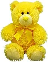Anico Plush Teddy Bear, Stuffed Animal, Bright Yellow, 8