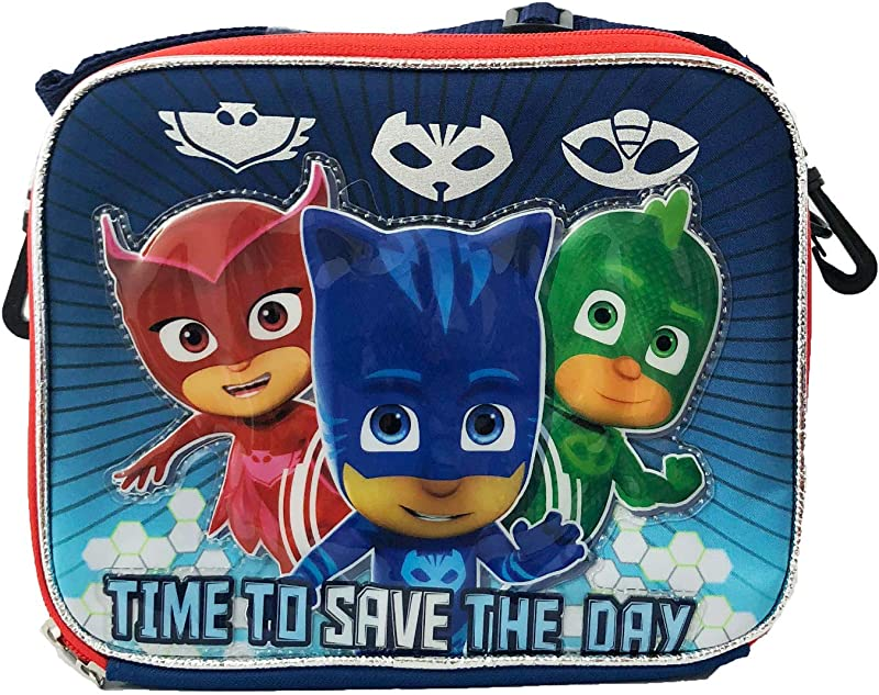 Boys Disney Junior Pj Masks Back To School Lunch Bag Box