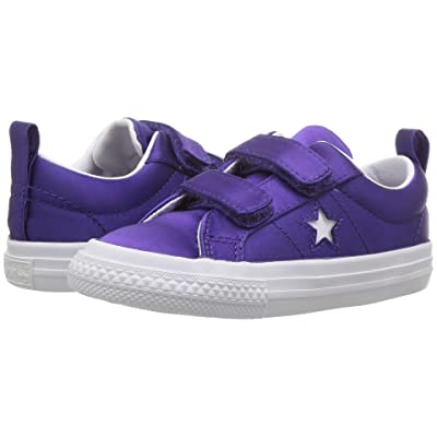 Converse Kids One Star Ox (Infant/Toddler) (Court Purple/White/White) Girls Shoes