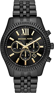 Michael Kors Lexington Men's Black Dial Stainless Steel Analog Watch - MK8603