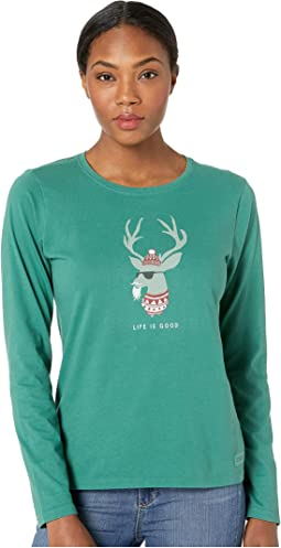Funky Reindeer Crusher Long Sleeve T-Shirt