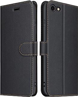 ELESNOW fodral kompatibelt med iPhone SE 2020/iPhone 7/iPhone 8, högkvalitativt vikbart fodral i läder, telefonskal för Ap...
