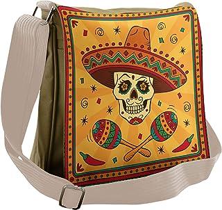 TFONE Day of The Dead Skull Crossbody Bag Lightweight Chest Shoulder Messenger Pack Backpack Sling Bag