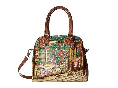 Anuschka Handbags 606 Zip Around Convertible Satchel (Vintage Bike) Handbags