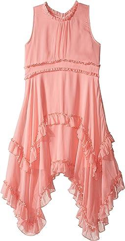 Crinkled Chiffon Dress (Little Kids/Big Kids)