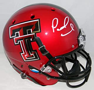 Patrick Mahomes Signed Autographed Texas Tech Red Raiders Full Size Helmet - JSA Certified - Autographed College Helmets