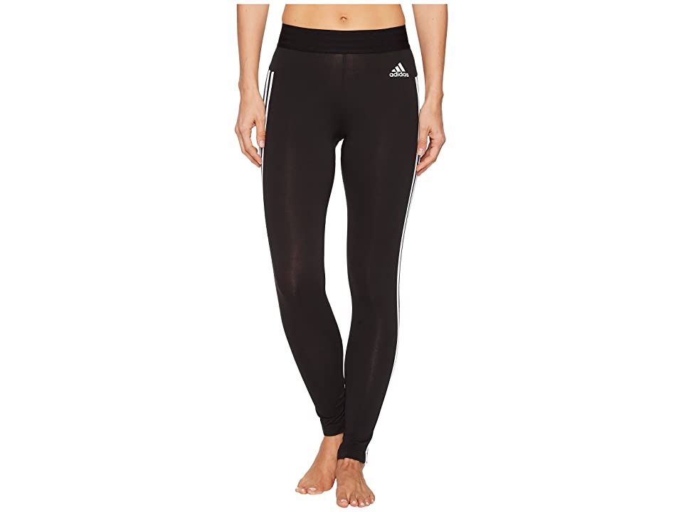 adidas Essential 3-Stripe Tights (Black/White) Women