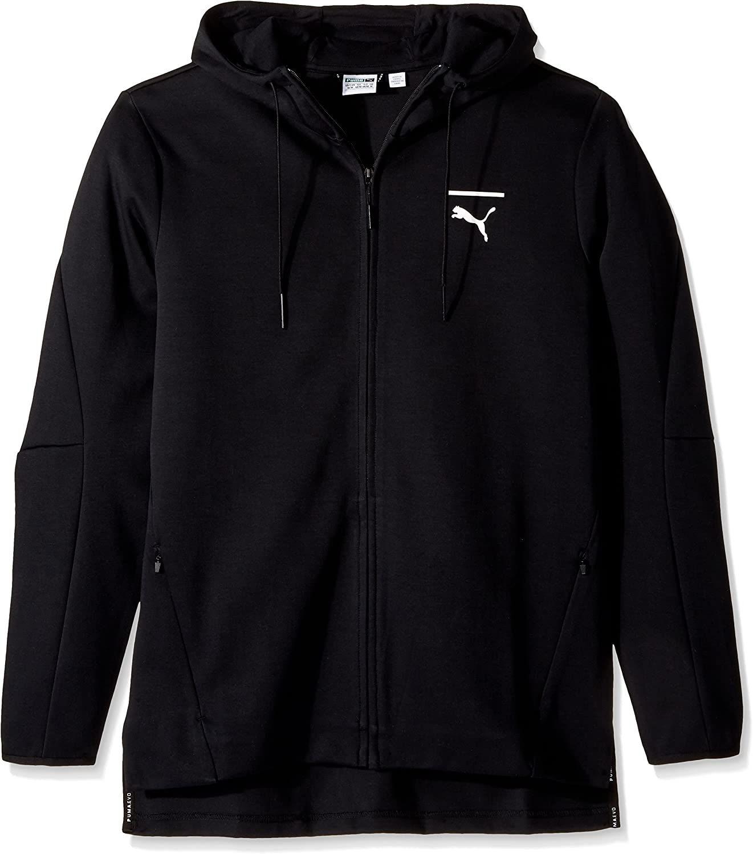 PUMA Men's EVO Core Full Zip Hoodie, Black, Small