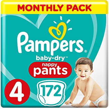 9-15 kg Pampers Premium Protection 168 Nappy Pants Size 4 Monthly Saving Pack