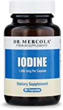 Dr. Mercola, Iodine, 90 Servings (90 Capsules), Helps Support Bone and Brain Health, Helps Support Energy Levels, Non GMO, Soy Free, Gluten Free
